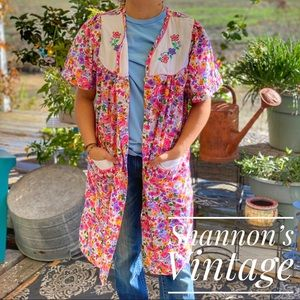 Moon Dance Golden Girl style floral duster A28